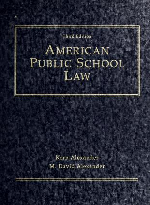 Cover of: American public school law | Kern Alexander