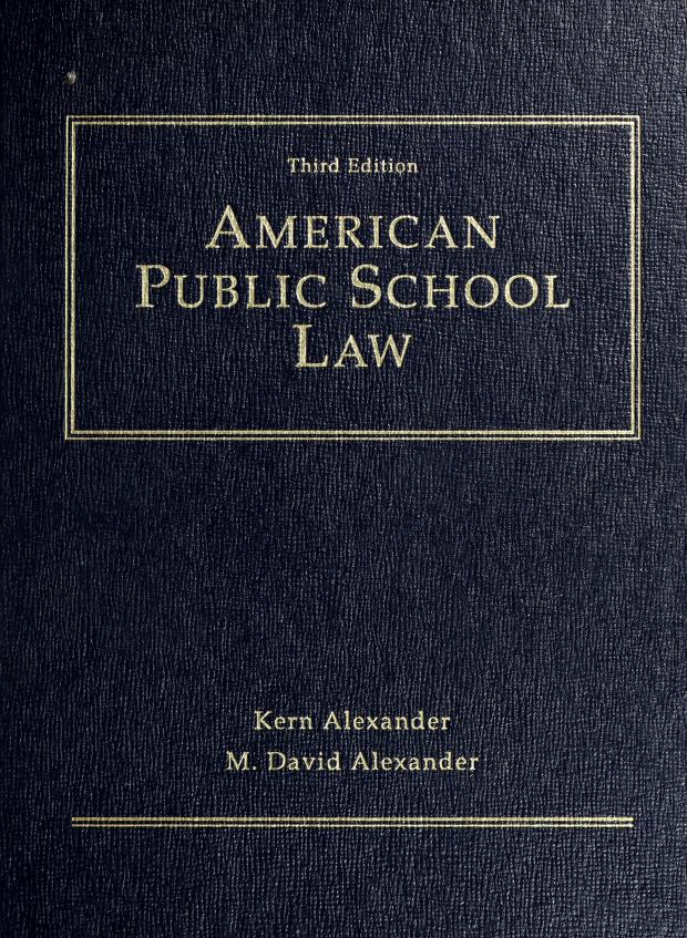 American public school law by Kern Alexander